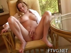 beauty plays with 2 dildos