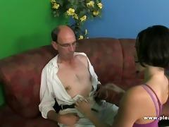 grandpa bonks a slim whore with diminutive tits
