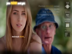 dumped blonde fucks old guy to calm down her