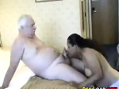thick indian prostitute with an old lad