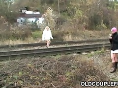 old pair fucking railway slut