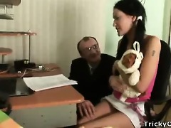 gorgeous brunette receives screwed by her teacher