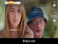 slutty old man bangs with cute dark brown playgirl