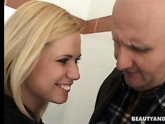 blonde legal age teenager amanda suck and fuck an
