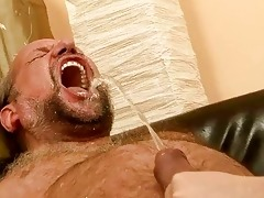 grandpapa fucking and pissing on naughty redhead