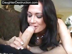 daughter mouth and pussy drilled hard
