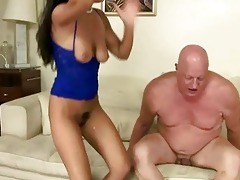 naughty brunette fucking fat grandpa