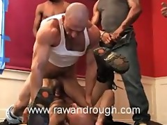 boyhous gets voided urine on and drilled