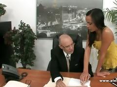 old boss fucks youthful sexy secretary
