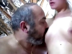 juvenile blond engulf old mans cock