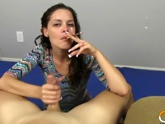 charlee chase cigar smokin and tugjob