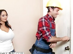 slutty dark brown wife ava addams bonks her home