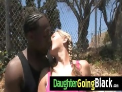 see how my daughter is drilled by a darksome man