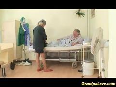 grandpa babe fucking a nice brunette nurse giving