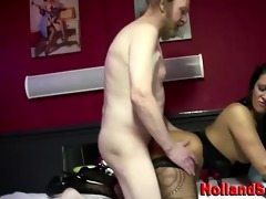 euro bitch gets cumshot from oldy