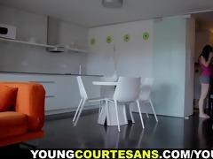 juvenile courtesans - showered with cum for an