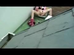 spying my sister masturbating in terrace