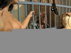 old fellow fucks sexy prison guards