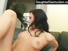 cute girl takes massive cock up her wazoo