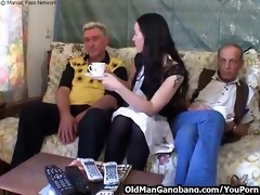 lascivious grandpas fuck younger wench