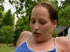 angel on picnic acquire fucked into ass