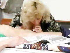 excited old russian blonde screwed by youthful