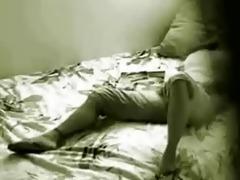 hidden cam in bedroom of my sister catches her
