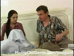 youthful gal drilled by aged guy