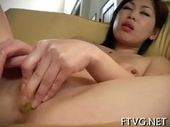 playgirl fondles wet snatch