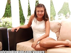 onlyteenbj youthful teenager maya grands first