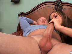 youthful autumn skye acquires banged by old but