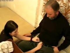 grandpa nails new pussy