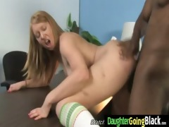 tight young legal age teenager takes big darksome