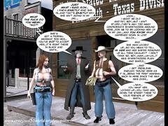 3d comic: six gun sisters. movie scene 5