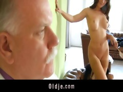 old butler serve sex to his spoiled lady boss