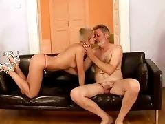 grandad fucks his juvenile girlfriend