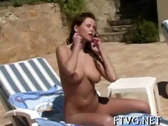 girlie plays with sextoy