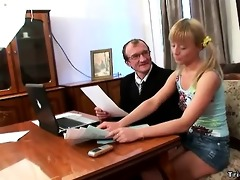 horny schoolgirl fucks her teacher to receive an