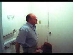 fake spy redhead gives old fellow head in bath