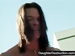 cute legal age teenager daughter roughly