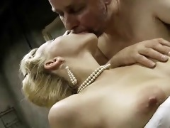 old general and blond babe