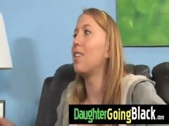 see my daughter taking a hard black weenie 3
