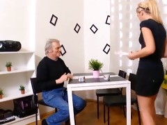 old chap fingering and fucking cute czech nubiles