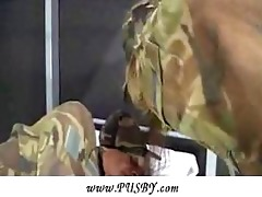 youthful army hotty riding an old veteran