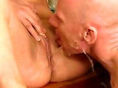 grandpa and youthful girl pissing and fucking