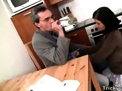 lascivious teacher turns sexy coed into a impure