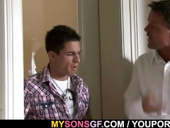 hung dad does sons gf