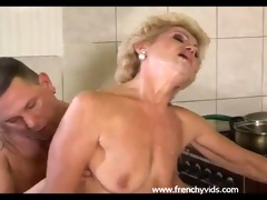 old slut bonks with a juvenile guy