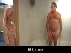 perverse old geezer bonks slutty young hotel maid